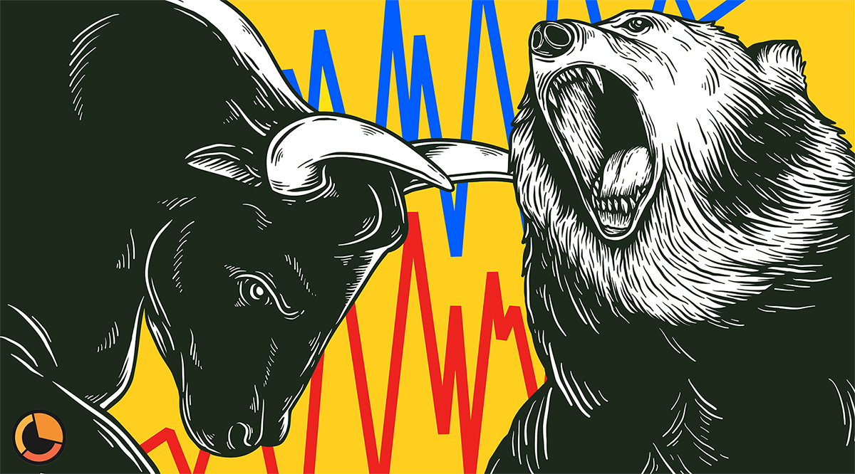 What factors can cause a bull or bear market