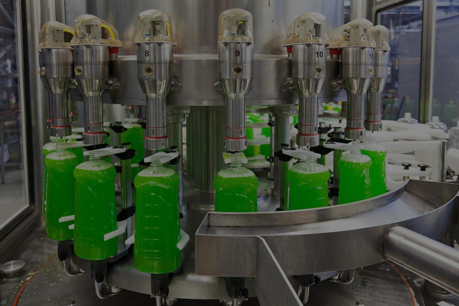 Timing Screws In Manufacturing Assembly Line Equipment